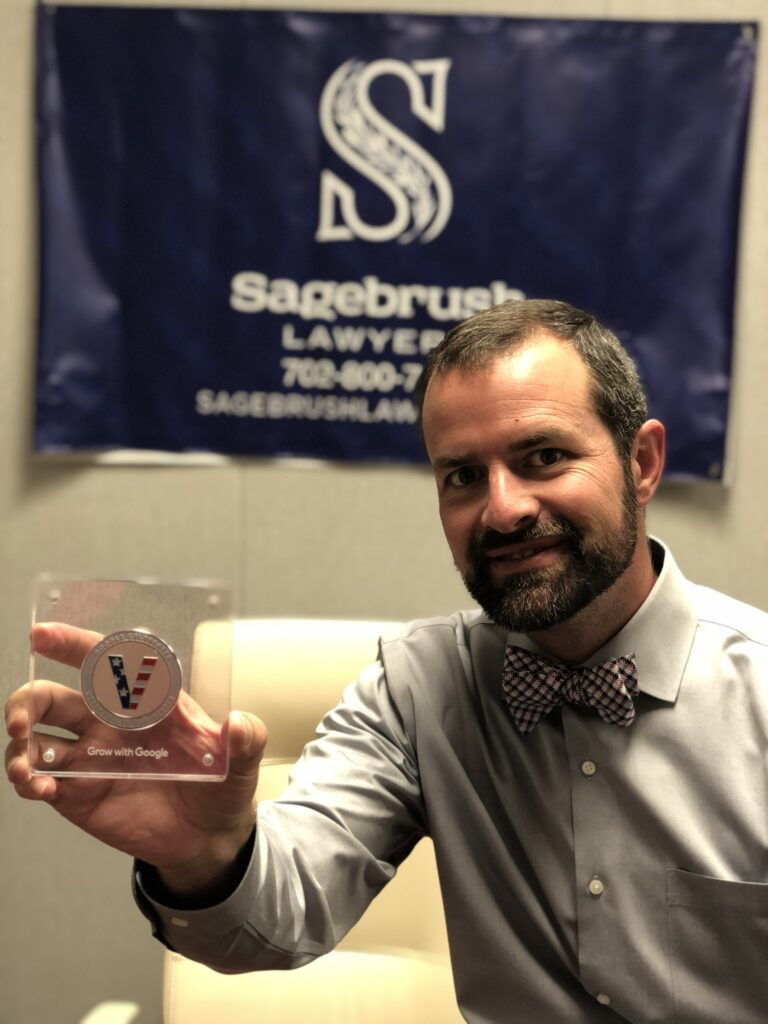 """Sagebrush Lawyers recognized as a highly rated """"Veteran-Led"""" business on Google Search and Maps."""